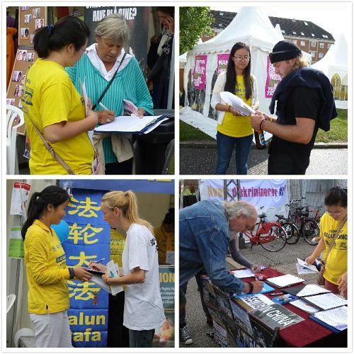 '人們知道發生在中國的活摘法輪功學員器官的真相後,紛紛簽名'