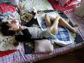 圖二、佳木斯法輪功修煉者項曉波被黑龍江省勞教所迫害至精神失常,老父母疾呼:你們給我女兒打了甚麼藥?