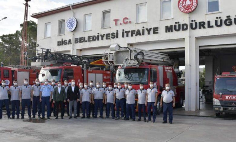 Photo of Erdoğan İtfaiyecileri Ziyaret Etti