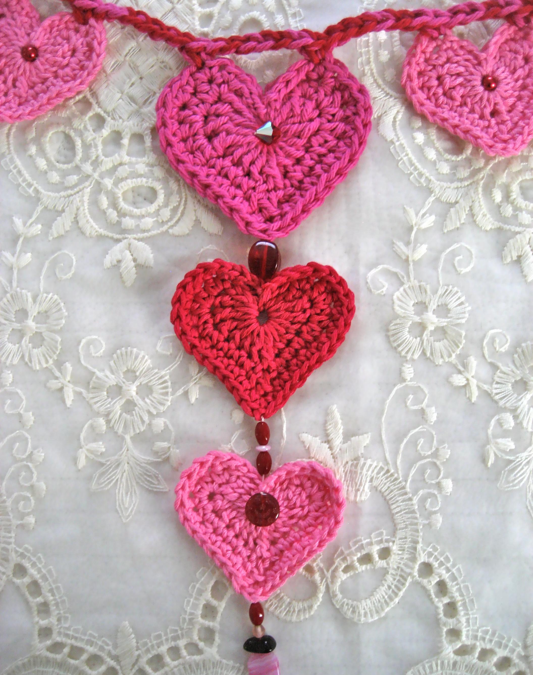 Valentine S Day Crochet Heart Garland