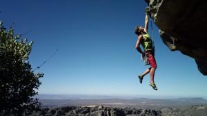 entrepreneur rock climbing