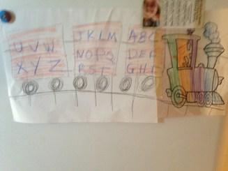 Rainbow alphabet train