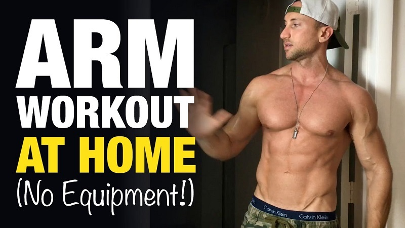 The Best Home Exercise for Getting Big Biceps without weights