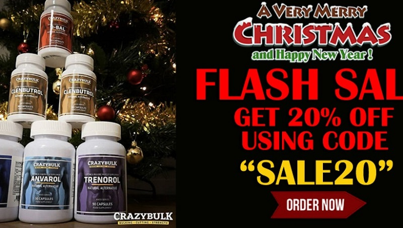 Crazy Bulk Christmas and New Year sale