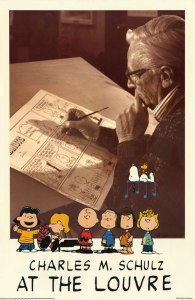 Charles M. Schulz at the Louvre - Limited Edition PEANUTS Poster