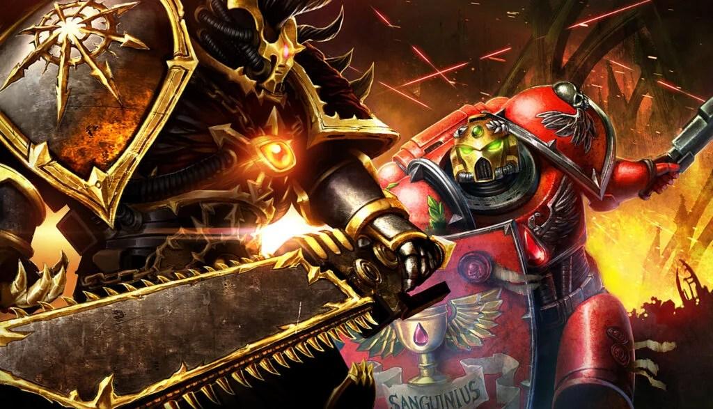 Walka pomiędzy Chaosem a Space Marines w Eternal Crusade.