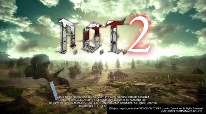 Menu główne Attack on Titan 2