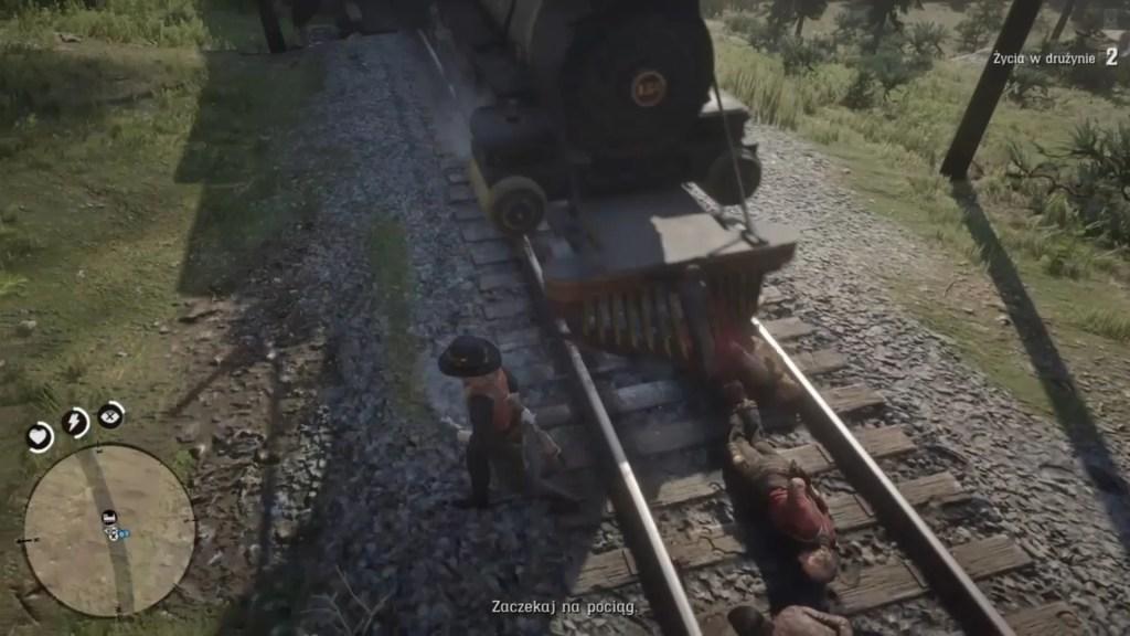 Red Dead Online, i ty możesz zostawić przestępców na torach.