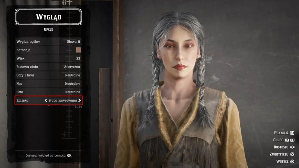 Red Dead Online customizacja postaci.