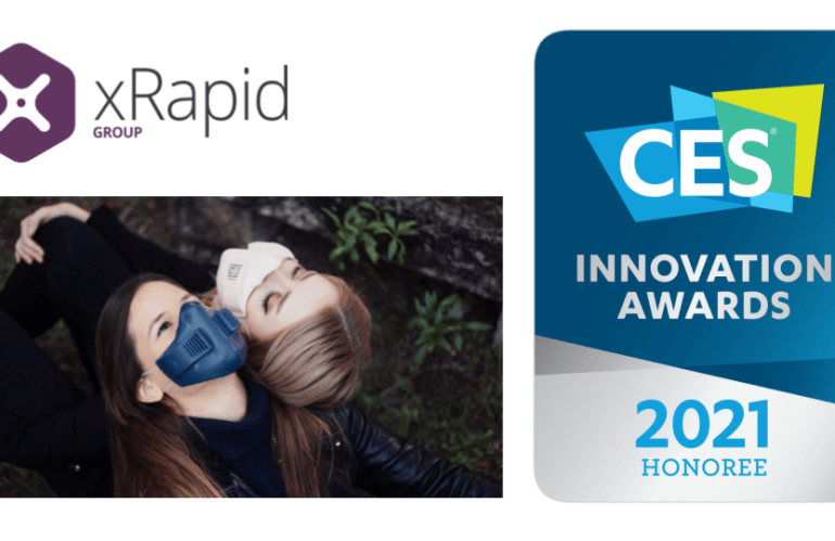 xRapid wins 2 prizes at CES and launches its xHale mask in the US