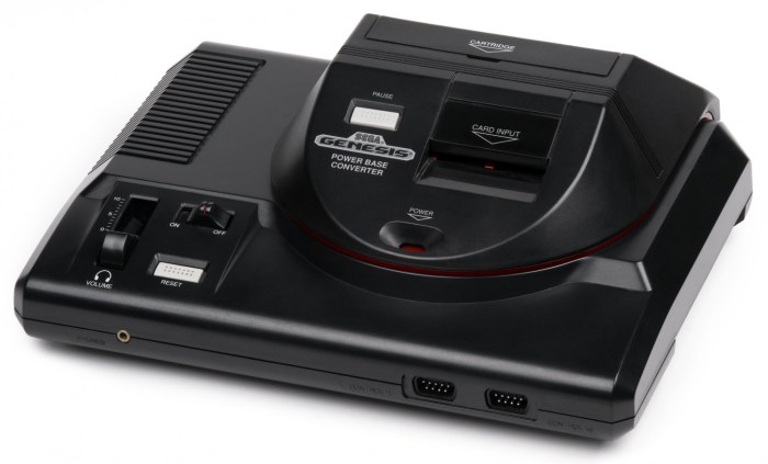 Sega genesis with power base converter