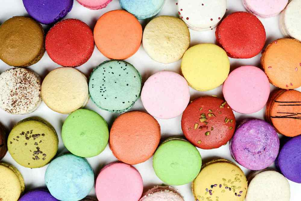 Colourful Macaroons in order
