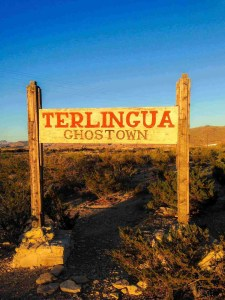 terlingua ghost town sign