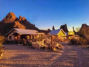 Ten Bits Ranch with towering desert scenery