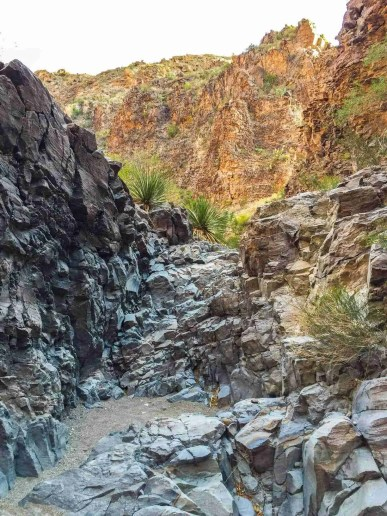 upper burro mesa pour off trail rock scrambling