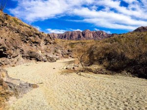 hiking dry river bed