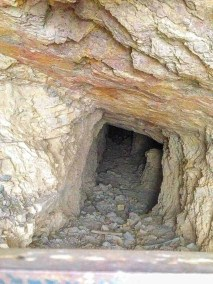 down a mine shaft in Mariscal mine
