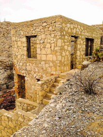 abandoned structure at mariscal mine