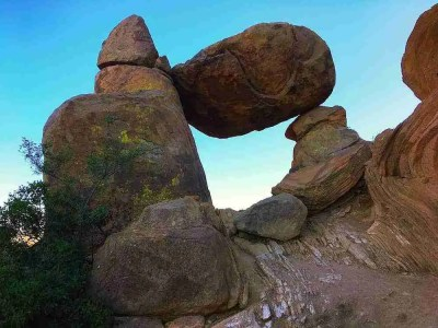Balanced Rock on Grapevine Hills Trail in Big Bend National Park