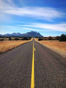 Road from Davis Mountains to Marfa