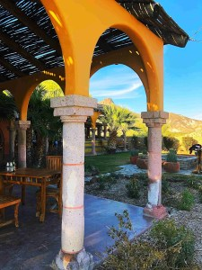 beautiful arches of the dining area lajitas resort texas