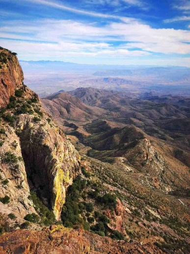 Views from the South Rim Trail in Big Bend National Park