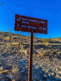 sign at Hot Springs District at Big Bend National Park
