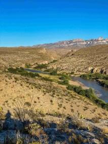 rio grande at Hot Springs District at Big Bend National Park