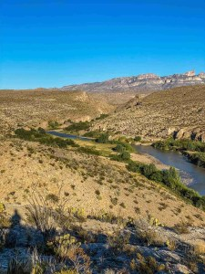 rio grande at Hot Springs District at Big Bend National Park