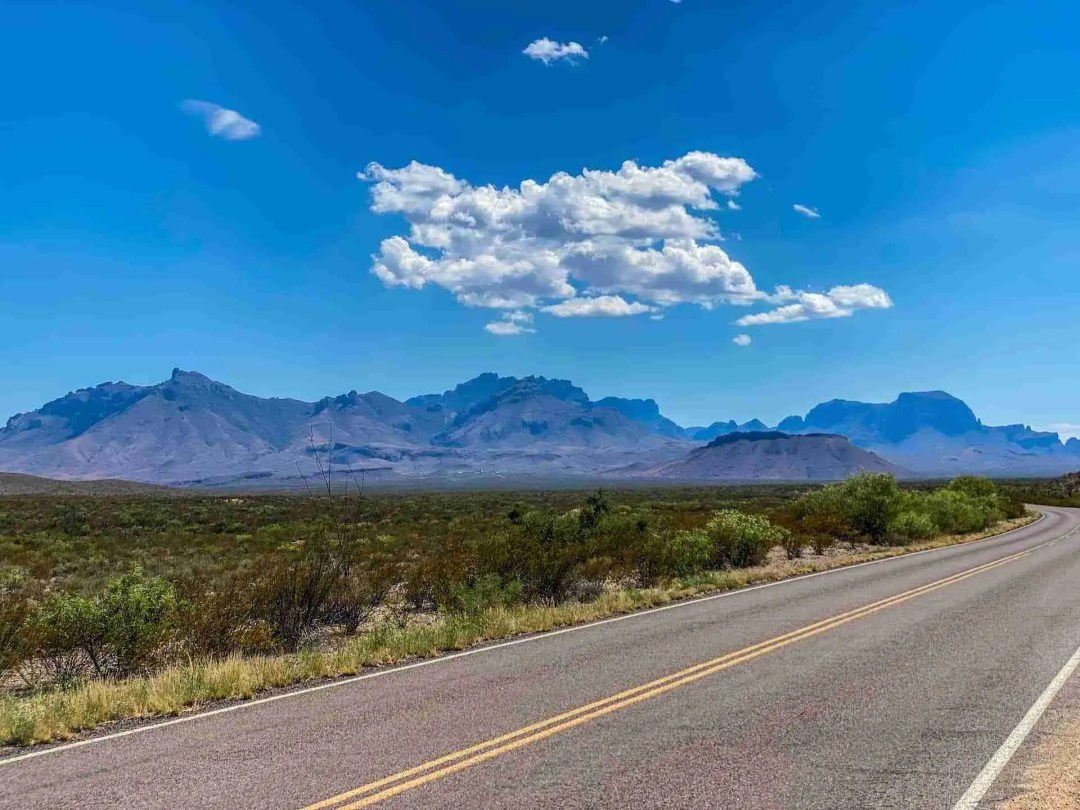 view of chisos mountains in big bend national park