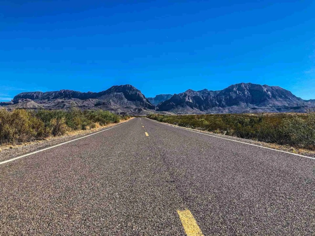 Chisos Mountains in Big Bend National Park on Ross Maxwell Scenic Drive