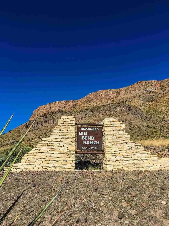 big bend ranch state park entrance sign