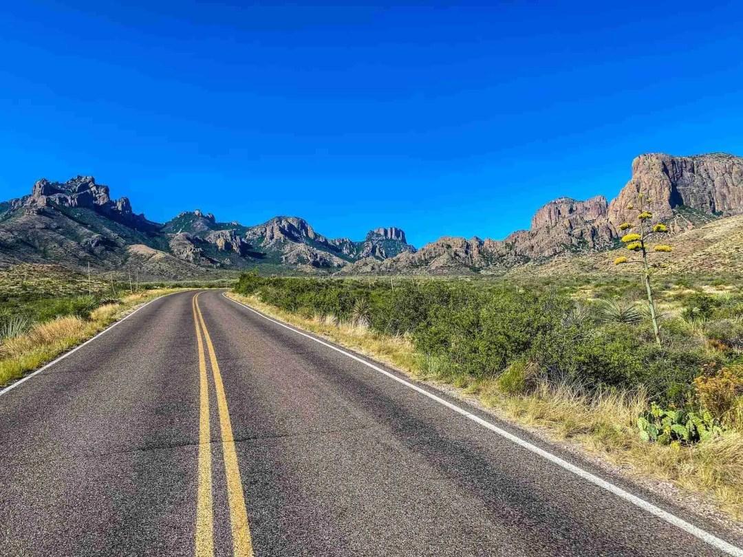 Big Bend road to Chisos