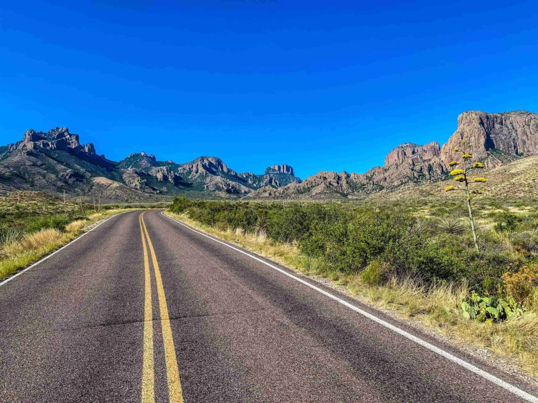 Big Bend road into the chisos