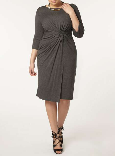 Curve Grey Marl Knot Front Dress £30.00