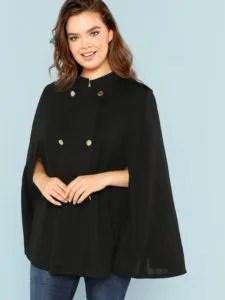 Shein Cape Coat. Plus size maternity clothes