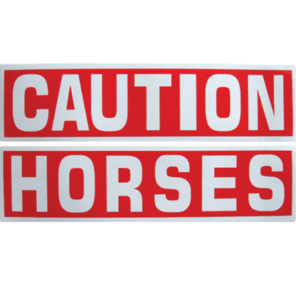 Caution Horses Decal