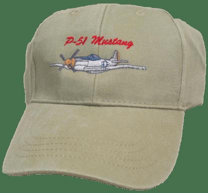 Khaki P-51 Mustang Cap