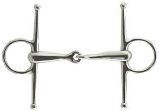 Coronet Jointed Full Cheek Snaffle Bit 4-3/4 Inch Stainless Steel