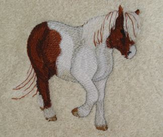 Embroidered Horse Breed Bath Towels