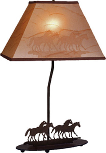 Horse herd lamp and shade