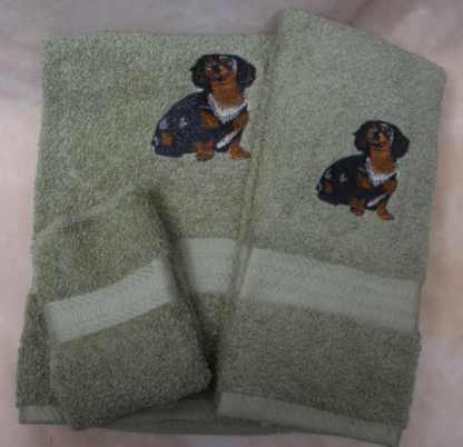 Daschund Dog Towel Set