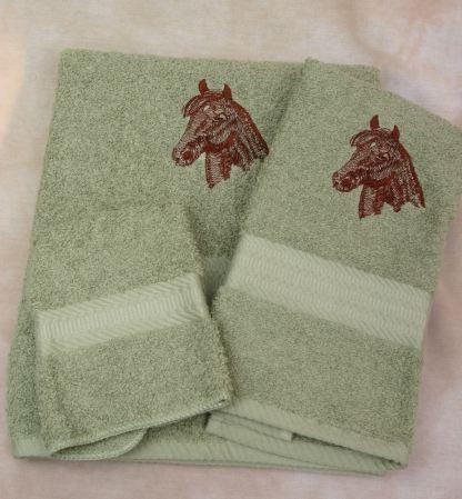 Morgan Horse Head Towel Set