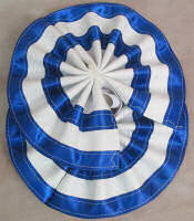 Horse Tail Bow Blue & White