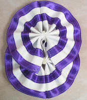 Horse Tail Bow Purple & White