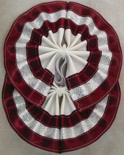 Tail Bow Burgundy & Silver