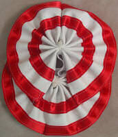 Horse Tail Bow Red & White