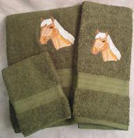 Haflinger Horse Bath Towel Set