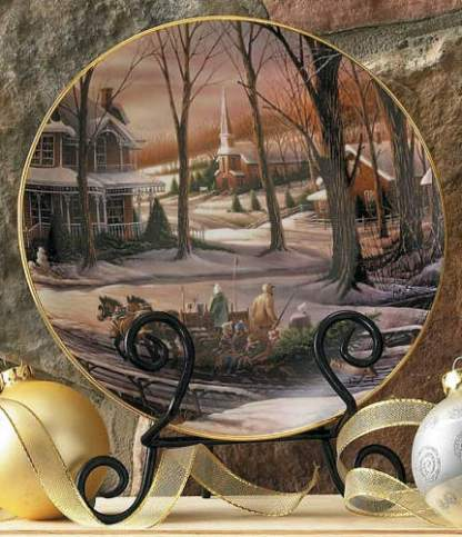 Homeward Bound Holiday Plate - Terry Redlin