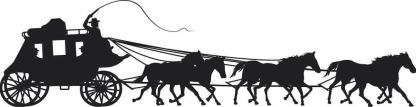 Stagecoach Black Decal